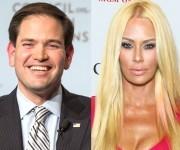 La ex actriz porno, Jenna Jameson, apoya al republicano, Marco Rubio.
