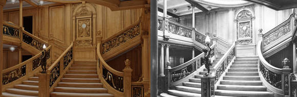 La famosa escalera de la escena de la película. Foto: Bluestarline.