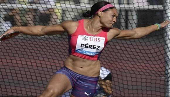 Yaimé Pérez estuvo entre los ganadores, con su marca de 64.96 en el lanzamiento del disco. Foto: Archivo.