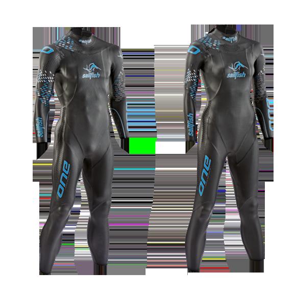 Trajes de neopreno usados por nadadores. Imagen: technojetswim.com
