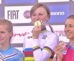 Arlenis Sierra bronce mundial 2016 en la carrera por puntos. Fotos: UCI