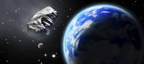 Simulación ilustrada de un asteroide en el espacio. Getty Images.
