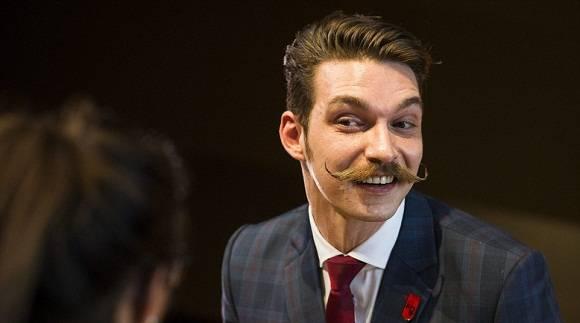 Uno de los competidores más jóvenes, Benny Reinhold, mostró el bigote impecable junto a sus mejillas afeitadas limpias. Foto: www.dailymail.co.uk