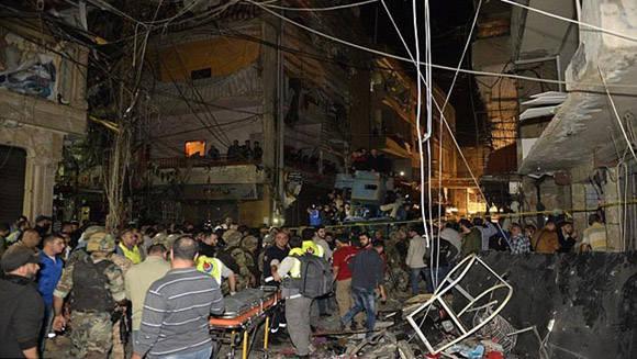 Atentado en Beirut. Foto: EPA.