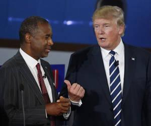 Ben Carson y Donald Trump.