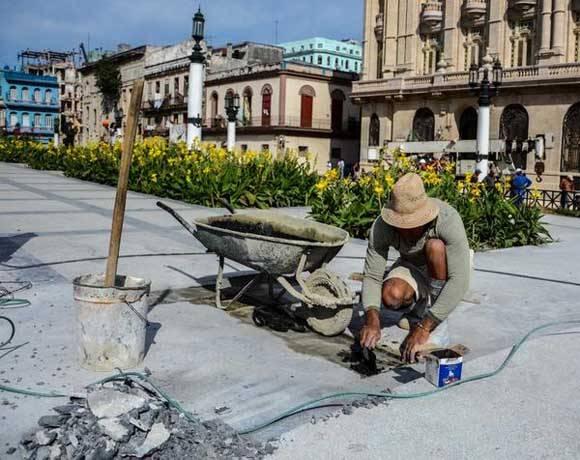 Los alrededores también se están reparando. Foto: ACN/ Abel Padrón Padilla.