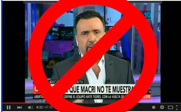 Las presiones del gobierno macrista llevaron al canal C5N a suspender ayer el informe que tenía preparado el periodista Roberto Navarro. Foto: Tomada de taringa.net