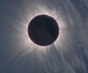 Eclipse total de sol en Día de la Mujer. Foto: NASA/Archivo.