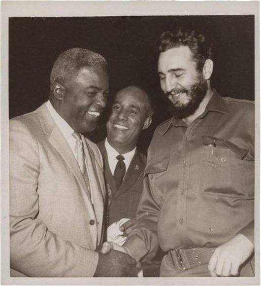 Fidel con Jackie Robinson (1959)