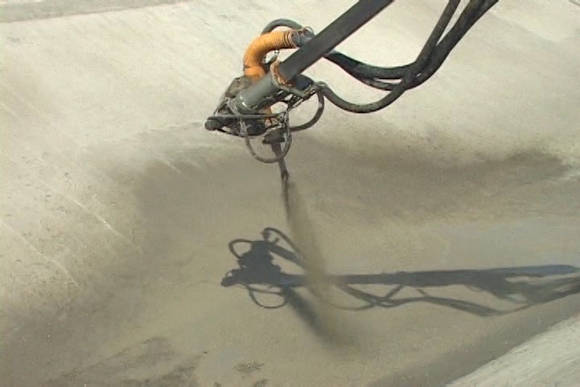 El sellado con el sistema gunitage asegura la impermeabilización de la obra. (Foto: Centrovisión)