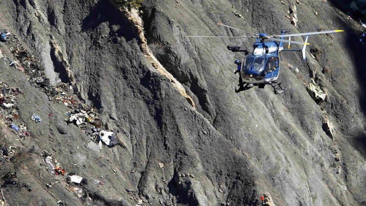 El Airbus 320 de la compañía alemana Germanwings se estrelló en los Alpes Franceses el 24 de marzo de 2015. Foto: Archivo.