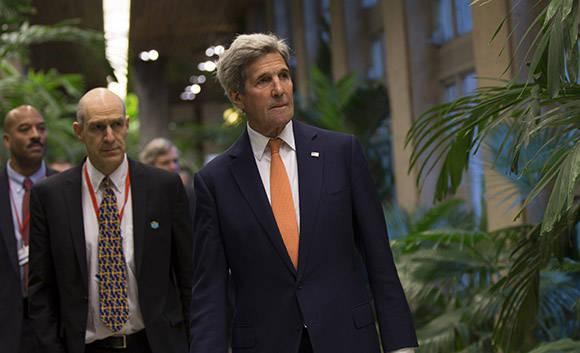John Kerry en el Palacio de la Revolución. Foto: Ismale Francisco/Cubadebate.
