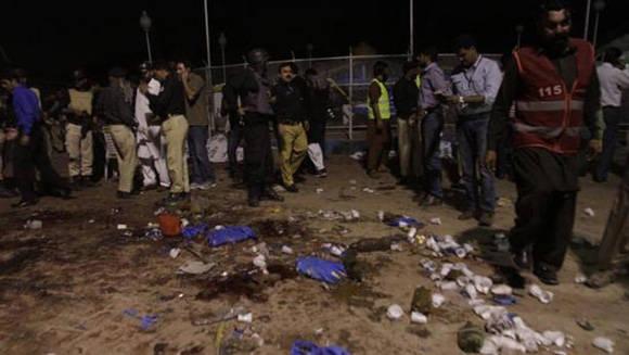 Atentado en Lahore. Foto: EFE.