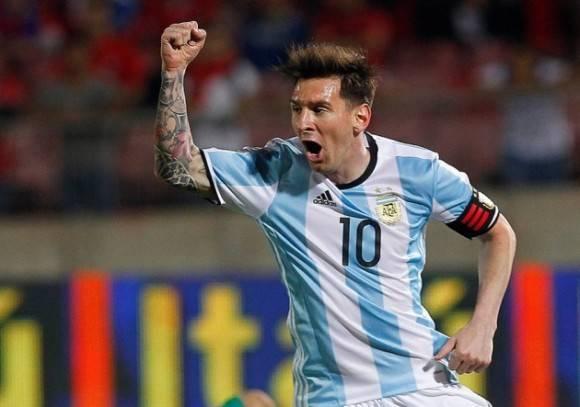 Messi en el Chile-Argentina de las eliminatorias premundialistas.Foto: Photosport.