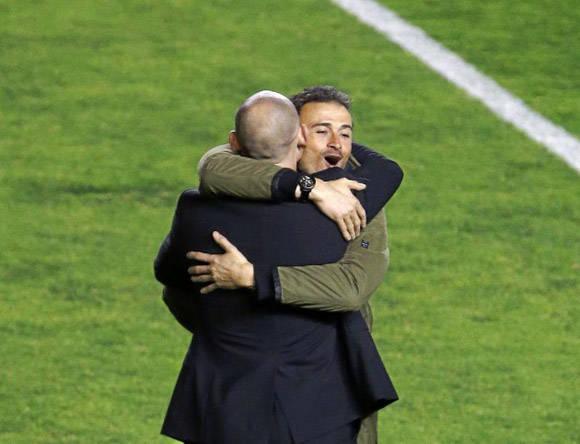 Luis Enrique y Paco Jémez. Foto: MARCA