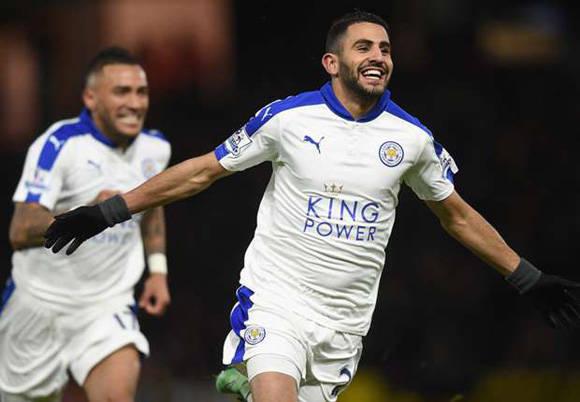 """Riyad Mahrez anotó el único gol frente al Watford y el """"loco"""" sueño de ganar la Premier está cada vez más cerca para el Leicester."""
