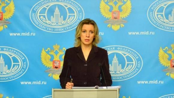 María Zarajova, portavoz del Ministerio de Asuntos Exteriores de Rusia. Foto: Tomada de www.marchaverde.com.br