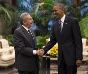 Recibimiento oficial de Raúl a Obama en el Palacio de la Revolución. Foto: Ismael Francisco/Cubadebate.