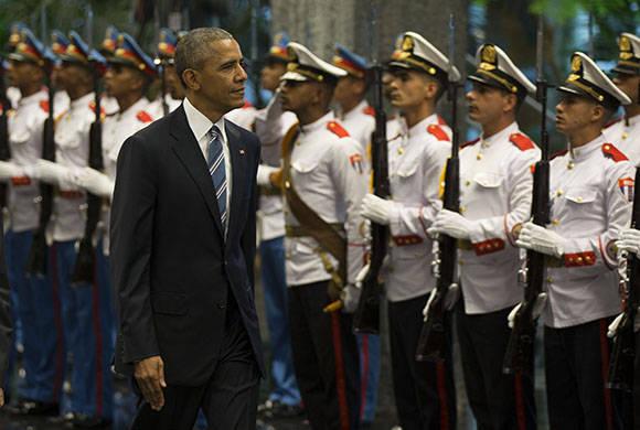 Obama regresará en la noche al Palacio de la Revolución para una cena de etsado. Foto: Ismael Francisco/Cubadebate.