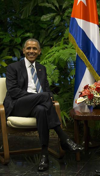 Obama en el Palacio de la Revolución. Foto: Ismael Francisco/Cubadebate.