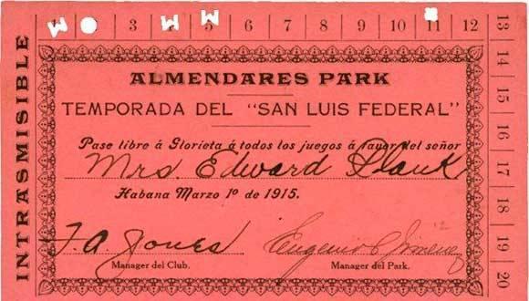 Pase libre a juegos del St. Louis Terriers (-1915)