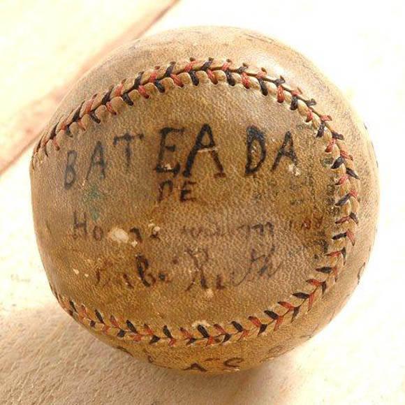 Pelota bateada de jonron por Babe Ruth en Cuba (1920) (1)
