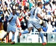 Pepe celebra el 1-0. Foto:  AFP.