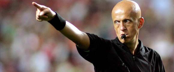 Pierluigi Collina, actual responsable de jueces de la UEFA, apoya el uso de la tecnología en la línea de gol. Imagen: dagbladet.no
