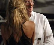 Richard Gere y la novia en La habana Concierto de los Rolling Stone 25 de marzo de 2016. Foto: Erenesto Masstracusa
