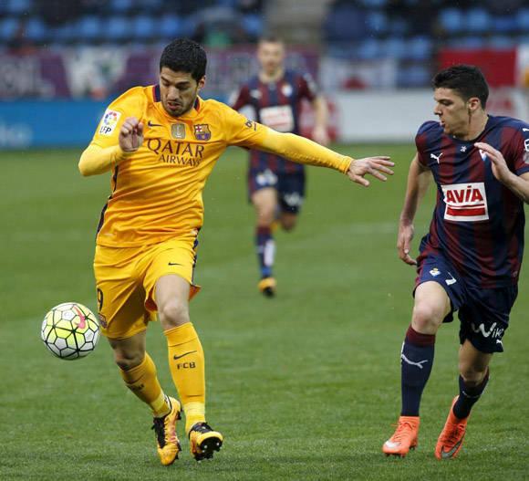 Suárez anotó su tanto 26 y dio su asistencia 11. Foto: Joseba Etxaburu/Reuters.