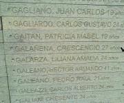 El nombre del diplomático cubano Crescencio Galañena, asesinado durante la dictadura argentina, es recordado en el Parque de la Memoria. Foto: Orestes Pérez / Cubadebate