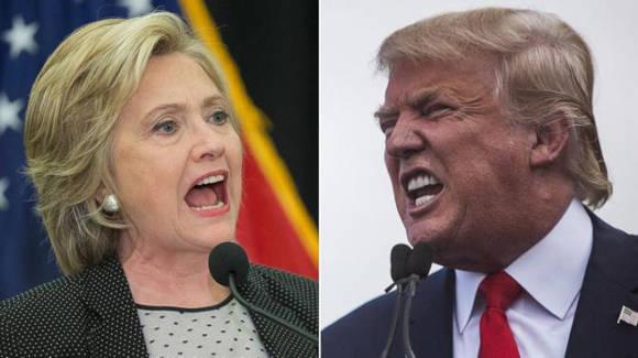 Trump y Hillary van a la cabeza en las elecciones de los Estados unidos. Imagen tomada de letra.digital