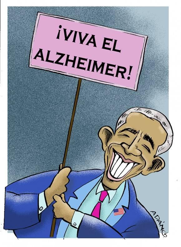 Viva el Alzheimer. Caricatura: Adán