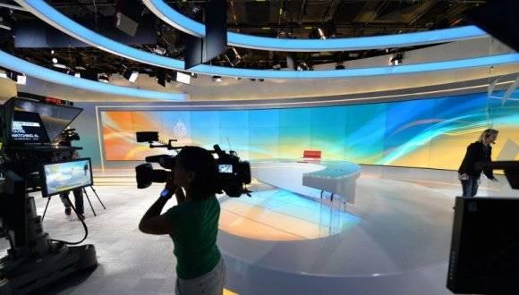 Estudio de Al Jazeera. Foto: Archivo.
