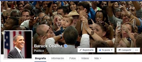 barack obama + facebook
