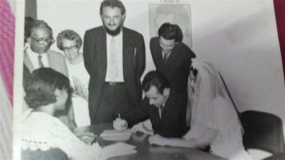 Estoy salvando un casamiento. Foto: Archivo familiar.