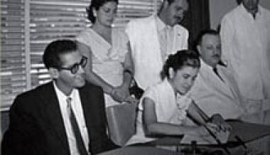 La boda de Martha Jiménez y Fructuoso Rodríguez.