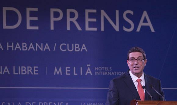 Bruno Rodríguez Parrilla habló en entrevista con medios ecuatorianos sobre varios temas trascendentales en las relaciones Cuba - Estados Unidos.  Foto: Ismael Francisco/Cubadebate/Archivo.