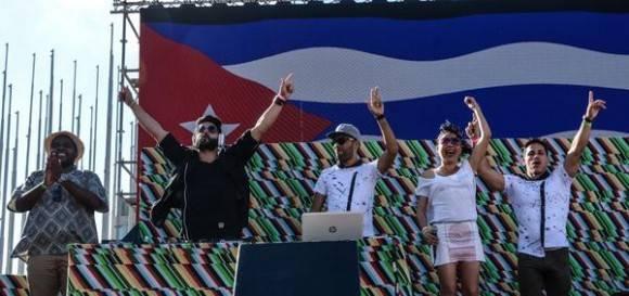 Concierto de Dj Diplo y Major Lazer, en la Tribuna Antiimperialista José Martí, en La Habana, el 6 de marzo de 2016. Foto: Marcelino Vázquez Hernández / ACN