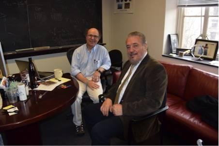 Con el profesor Frank Wiczek.
