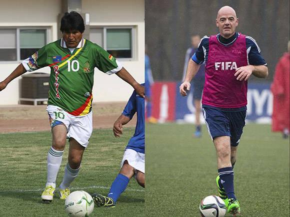 El presidente de la FIFA y el mandatario boliviano jugaran un partido amistoso.
