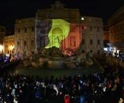 Italia, con la Fontana de Trevi iluminada se solidarizó con Bégica. Foto: Reuters