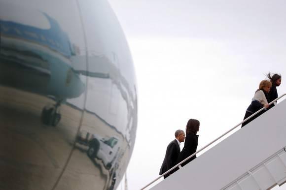 Obama y su familia parten a La Habana. Foto: The New York Times