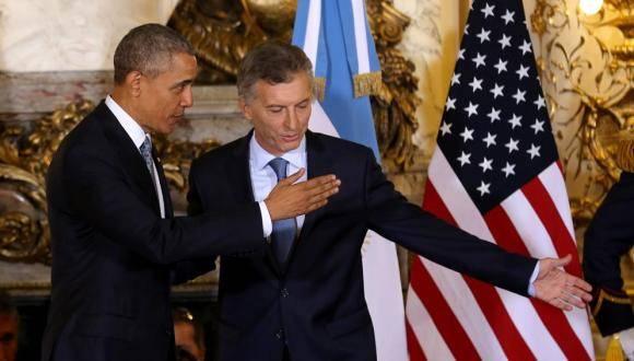 El presidente de Estados Unidos, Barack Obama, y su par argentino, Mauricio Macri, en la Casa Rosada. Foto: La Voz.
