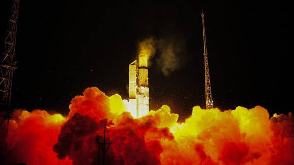 Despegue de Sentinel 3A. Foto: ESA.