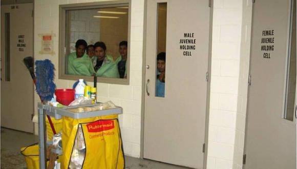 niños en la hielera
