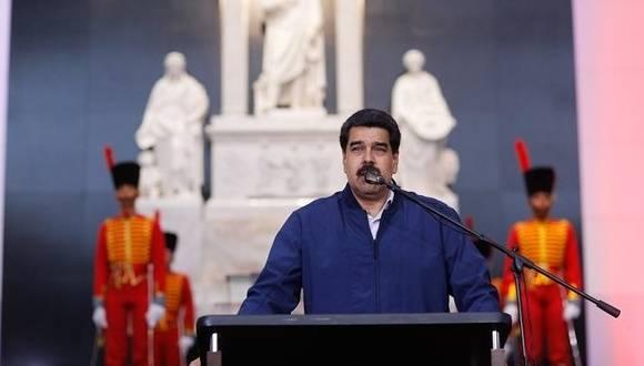 Nicolás Maduro en el Cuartel de la Montaña. Foto: Prensa presidencial.