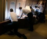 Aterrizando en La Habana a bordo del Air Force One / Landing in Havana yesterday aboard Air Force One.
