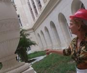 Paula Abrantes en el Capitolio de La Habana. Foto: Radio Rebelde.