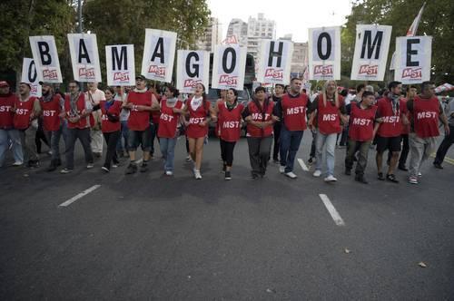 Protestas en Argentina. Foto: La Jornada